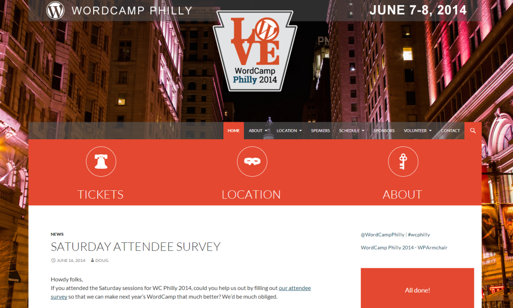 WordCamp Philly 2014 Homepage