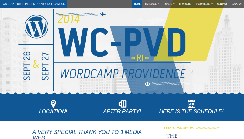 WordCamp Providence 2014 Website