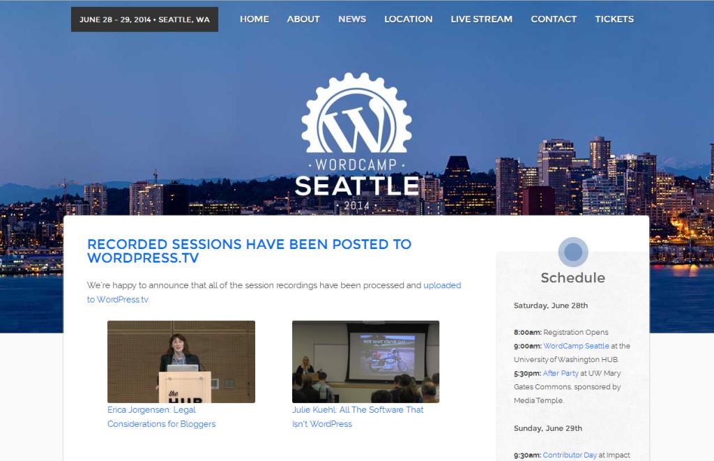 WordCamp Seattle 2014 Website