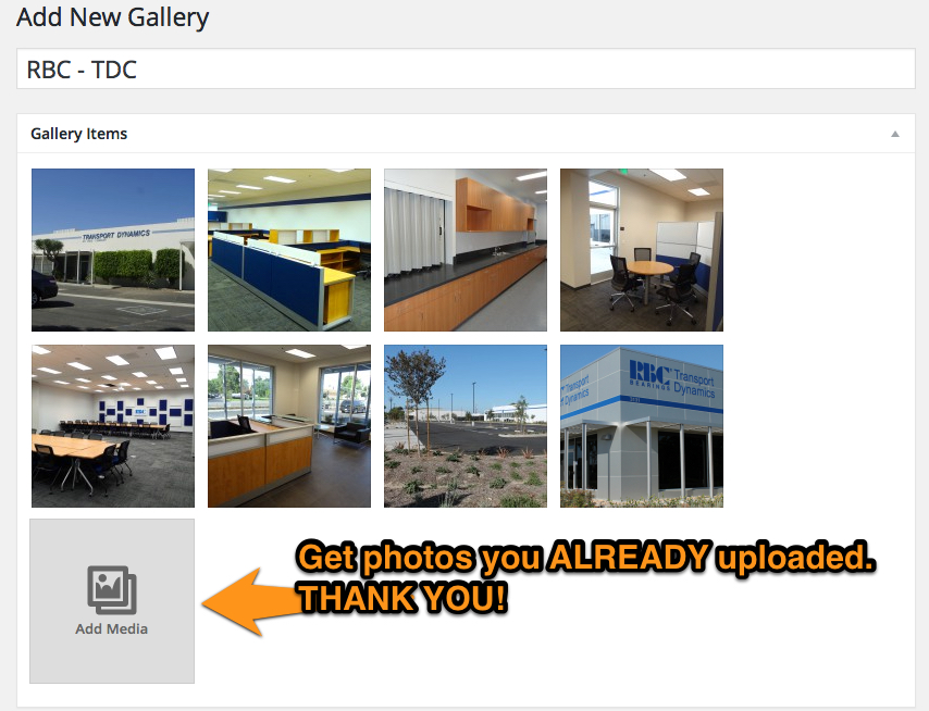 FooGallery pulls photos from your WP Media Library.
