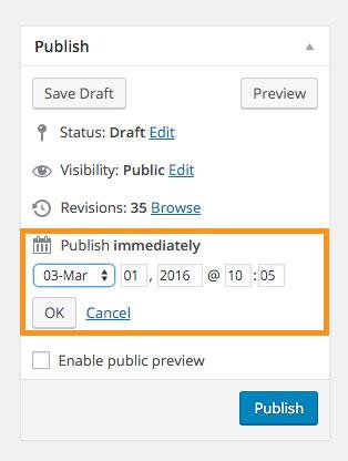 Custom Post Type Edit Date
