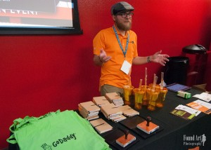 Matt Clancy representing GoDaddy at WordCamp Las Vegas 2015