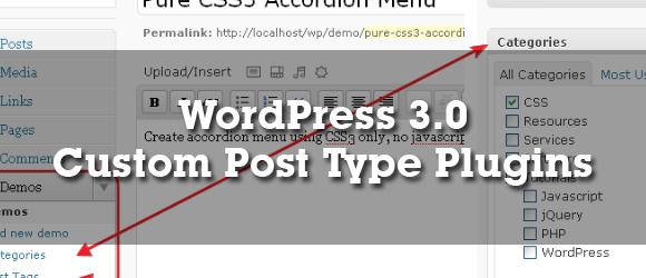 WordPress 3 0 Custom Post Type Plugins | Impress org