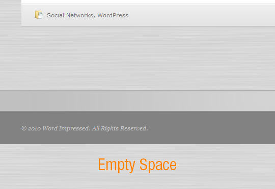 Footer Empty Space