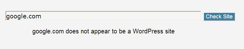 Google is not on WordPress