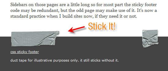 CSS Sticky Footer WordPress