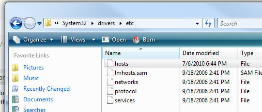 Windows Virtual Host Directory