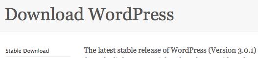 WordPress 3.0.1 Download