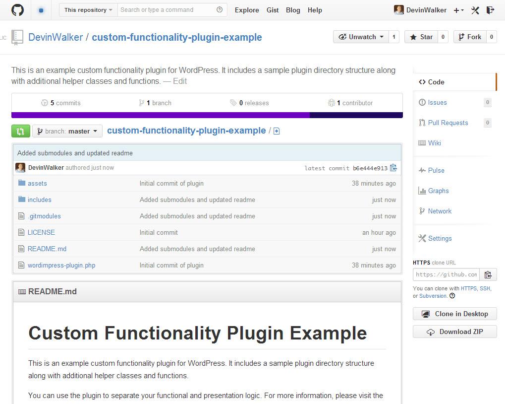wordpress-custom-functionality-on-github